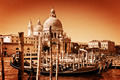 Venice, Italy. Gondolas on Grand Canal and the Salute basilica - PhotoDune Item for Sale
