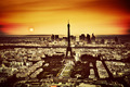 Paris, France at sunset. Aerial view on the Eiffel Tower - PhotoDune Item for Sale