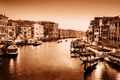 Venice, Italy. Grand Canal at sunset. Vintage, monochrome gold - PhotoDune Item for Sale