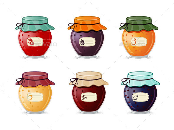 GraphicRiver Jam Jars 8858737