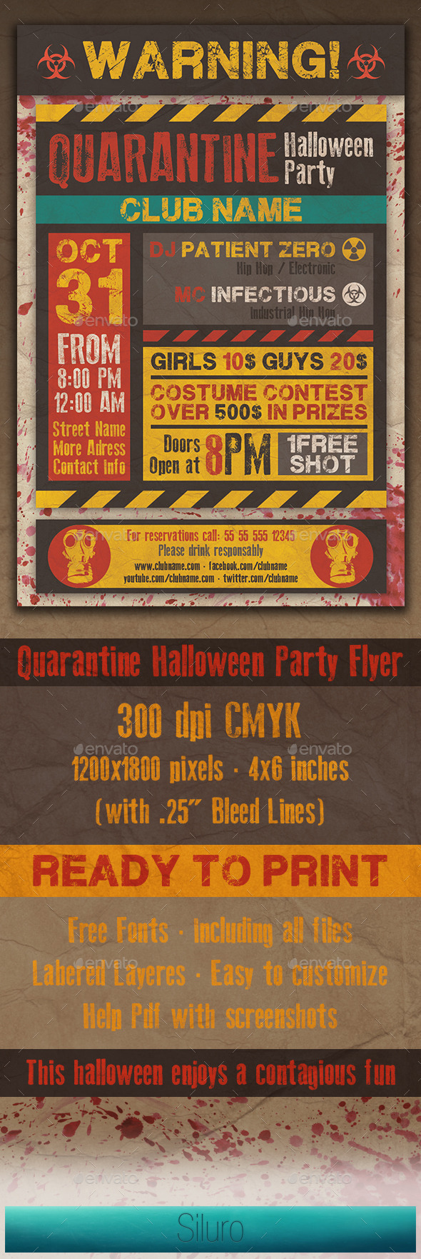 GraphicRiver Quarantine Party Flyer 8859135