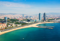 aerial view of Barcelona from Mediterranean - PhotoDune Item for Sale