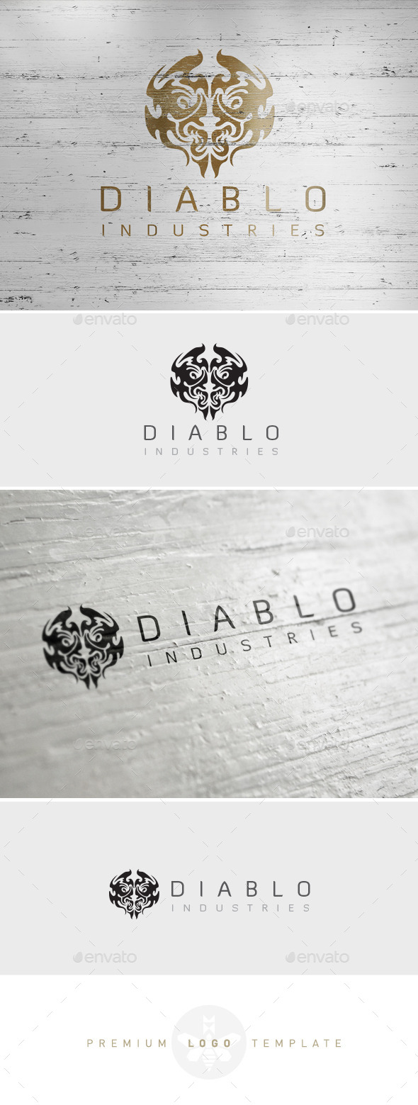 GraphicRiver Warriors Logo Diablo Demon Logo Game Clan Logo 8859208