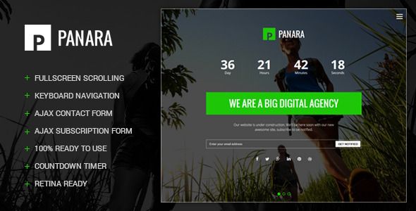 ThemeForest Panara Responsive Coming Soon Template 8859360