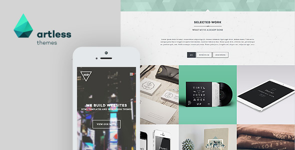Hip Creative Parallax One Page HTML Template