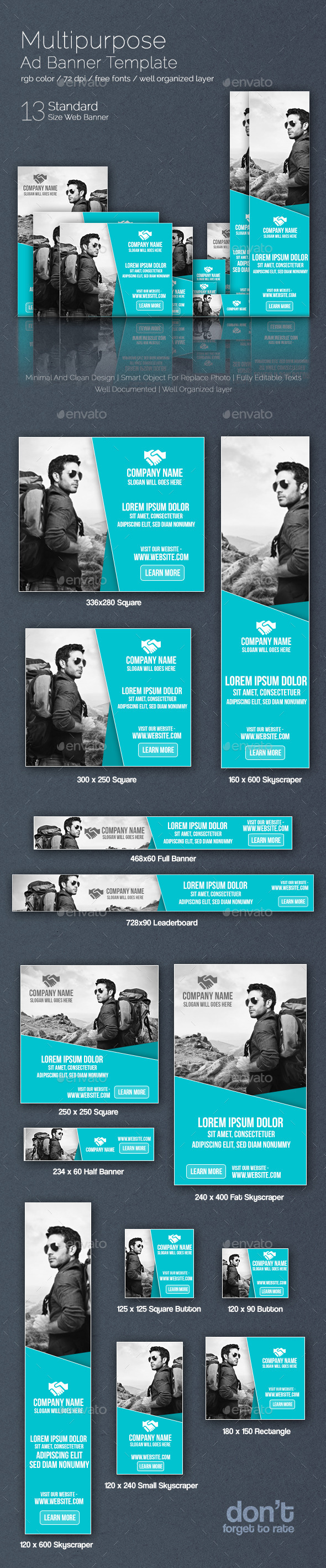 GraphicRiver Multipurpose Web Ad Banner 8859899
