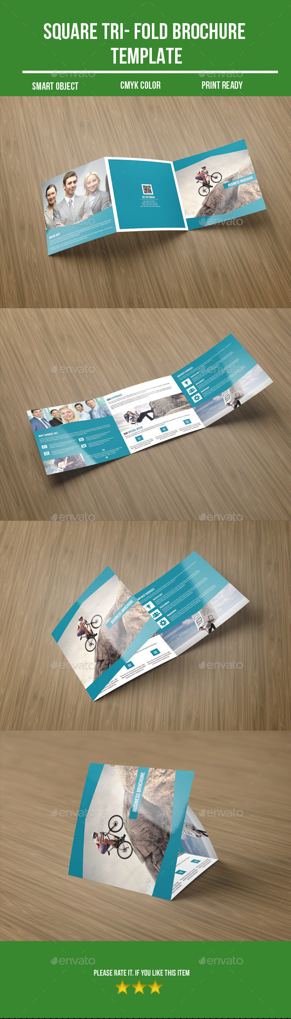 GraphicRiver Square Business Tri-Fold Brochure 8859903