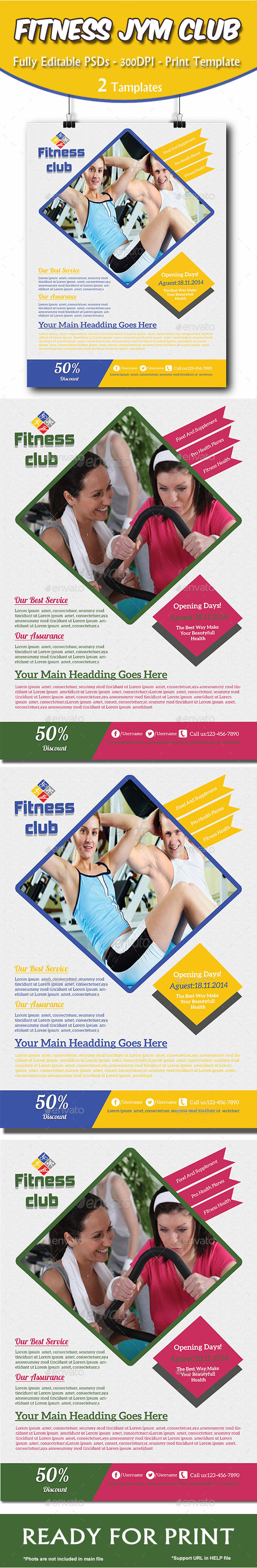 GraphicRiver Fitness Gym Health Flyer 8860114