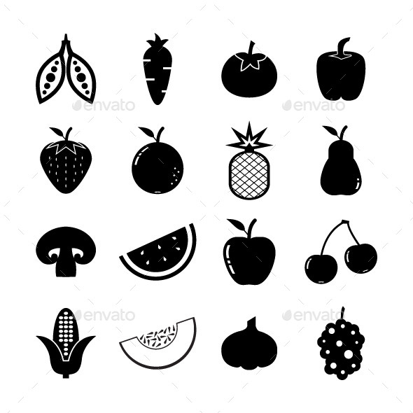 GraphicRiver Fruit and Vegetables 8860139