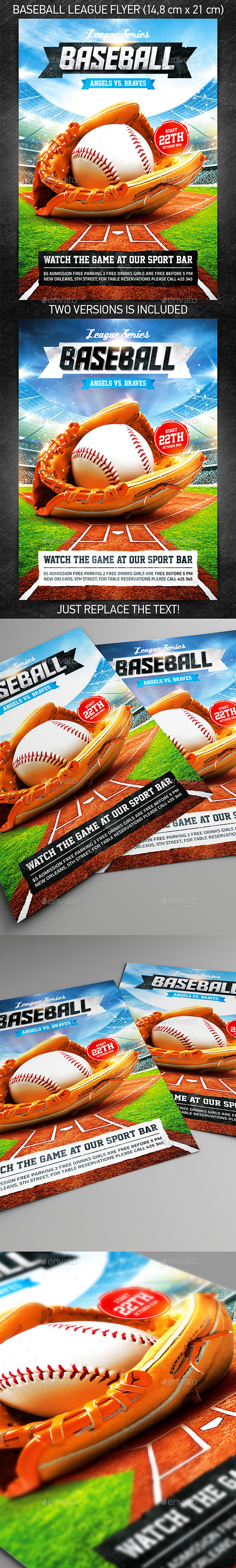 GraphicRiver Baseball League Series Flyer 8860300