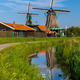 Windmills in Zaanse Schans, Holland, Netherlands - PhotoDune Item for Sale