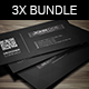 Corporate Business Card Bundle 3X - GraphicRiver Item for Sale