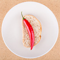 Fresh chili pepper with bread - PhotoDune Item for Sale