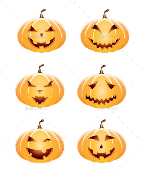 GraphicRiver Halloween Pumpkin Set 8860681