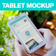 8 White Galaxy Tablet Mockups on Green Patio - GraphicRiver Item for Sale