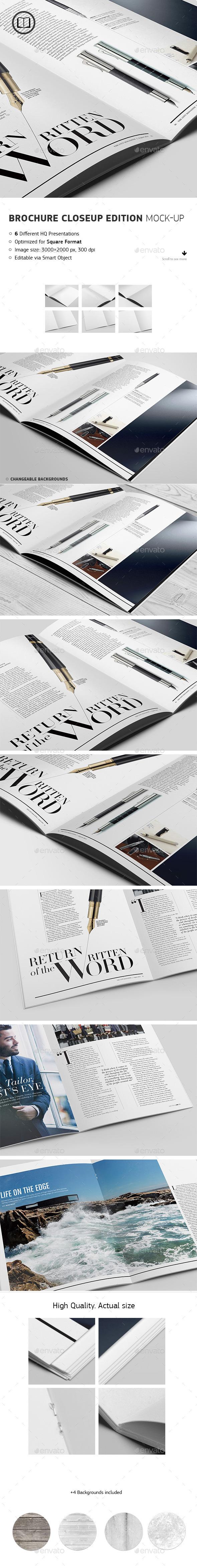 GraphicRiver Brochure Catalog Closeup Edition Mockup 8860893