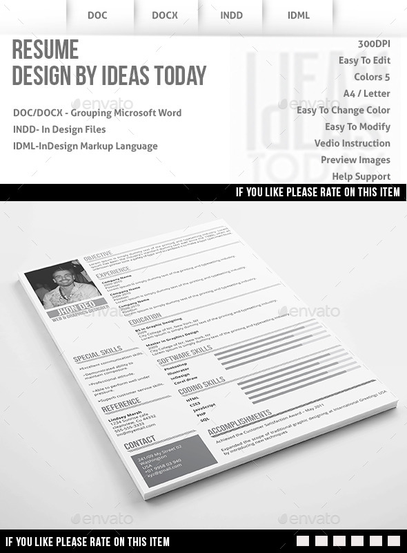 GraphicRiver Multipurpose Resume 8852131