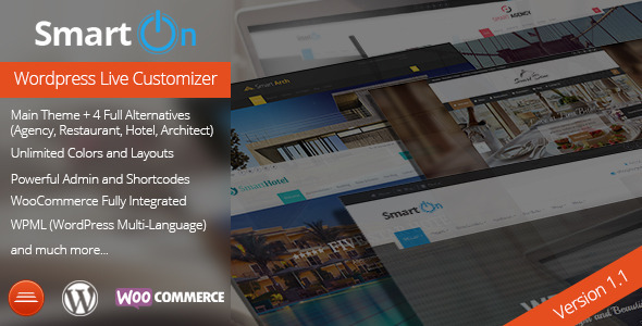 SmartOn - Multi-Purpose Ultimate Wordpress Theme - Corporate WordPress