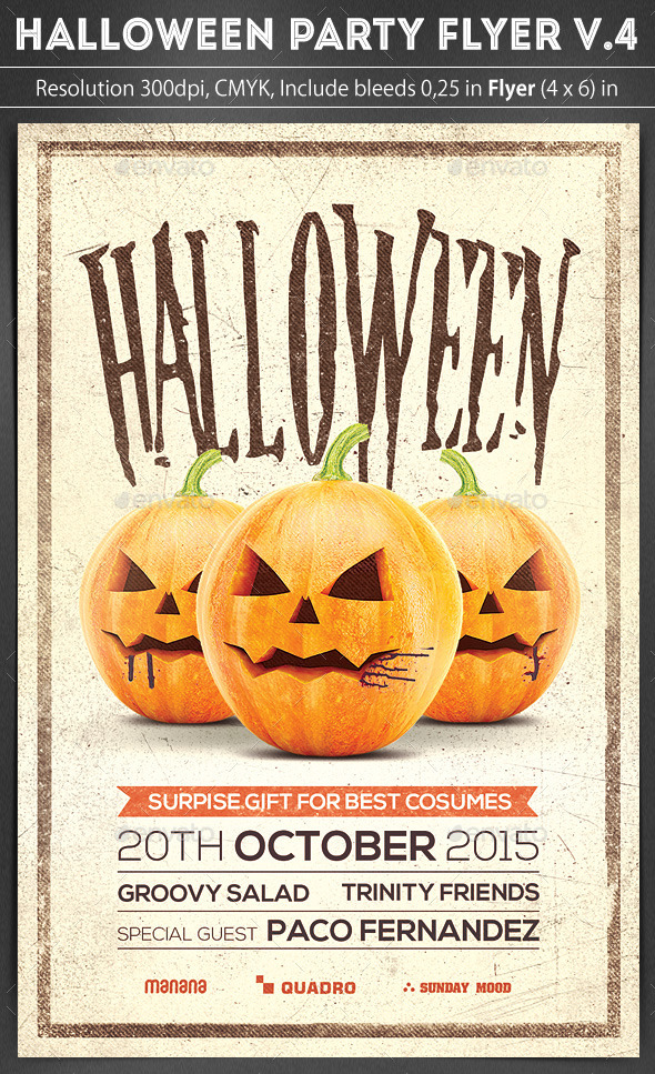 GraphicRiver Halloween Party Flyer v.4 8860976