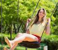 Girl on swing in summer - PhotoDune Item for Sale