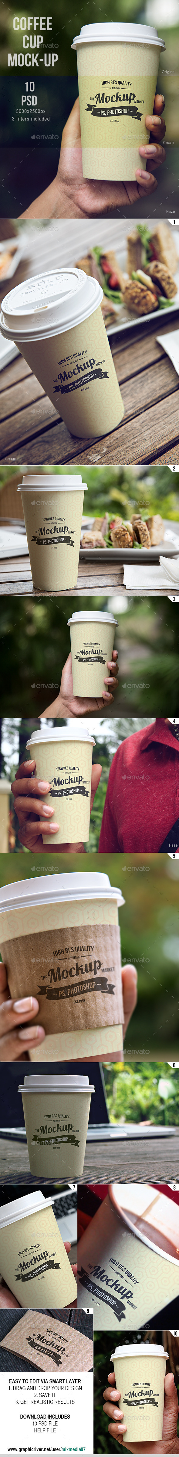 GraphicRiver Coffee Cup Mockup 8861003