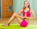 Female doing yoga at home - PhotoDune Item for Sale