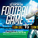 Football Game Template Flyer - GraphicRiver Item for Sale