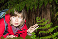 Scared woman backpacker lost in dark forest - PhotoDune Item for Sale