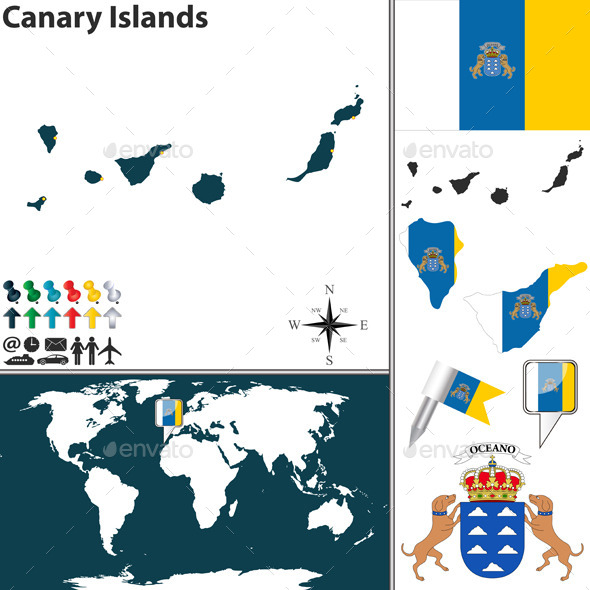 GraphicRiver Map of Canary Islands 8861092