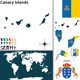 Map of Canary Islands - GraphicRiver Item for Sale
