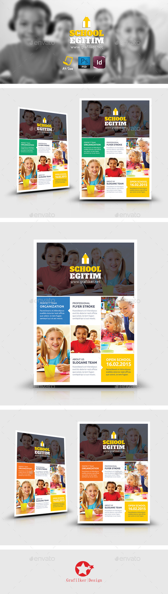 GraphicRiver Kids School Flyer Templates 8861162