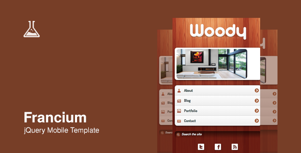 Francium - Mobile Theme - Mobile Site Templates