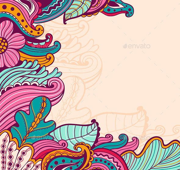 GraphicRiver Abstract Floral Background 8861343