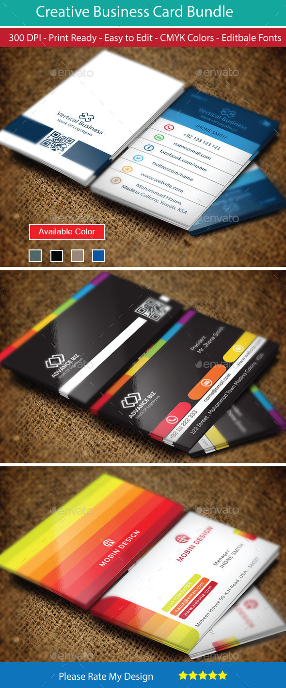 GraphicRiver Creative Business Card Bundle 8861363