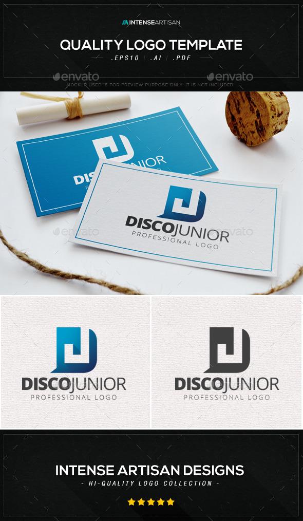 GraphicRiver Letter D Letter J Logo Template 8861422