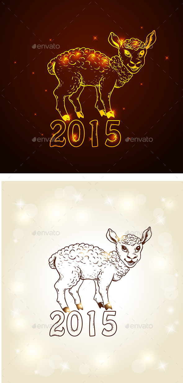 GraphicRiver New Year Card with Yeanling 8861443