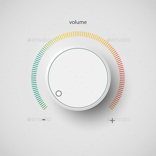 GraphicRiver Realistic Metal Control Panel Tumbler Music Audio 8861484