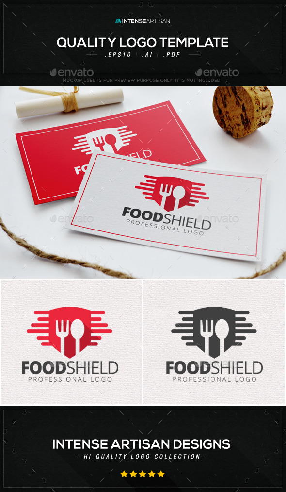 GraphicRiver Food Shield Logo Template 8861733