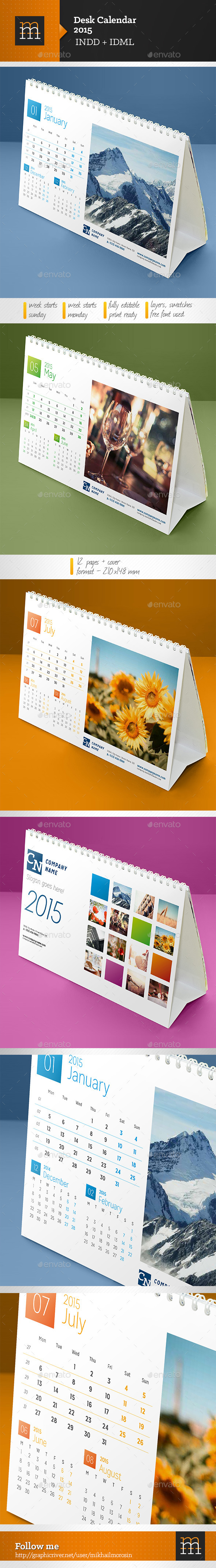GraphicRiver Desk Calendar 2015 8861786