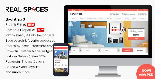 Real Spaces - Wordpress Real Estate Theme - Real Estate WordPress