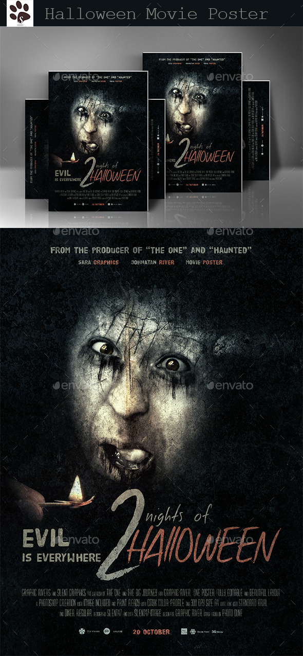 GraphicRiver Halloween Movie Poster 8861909