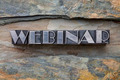 webinar word in metal type - PhotoDune Item for Sale