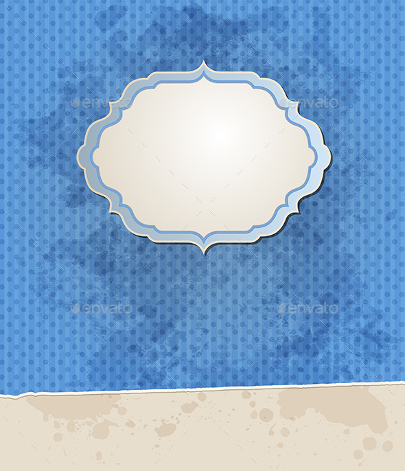 Blue Vector Striped Vintage Background