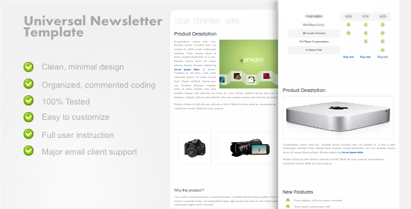UniversalNewsletter - Clean Email Template