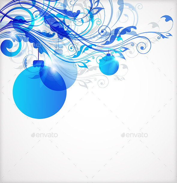 GraphicRiver Blue Christmas Abstract Background 8862369