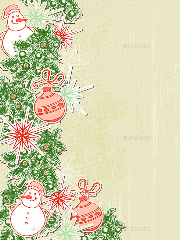 GraphicRiver Christmas Background with Paper Decorations 8862549