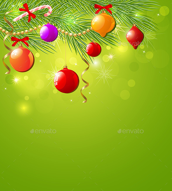 GraphicRiver Green Christmas Background 8862670
