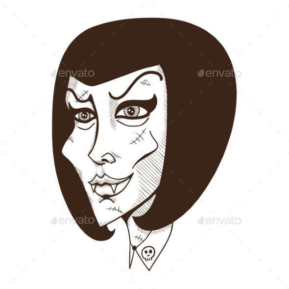 GraphicRiver Woman Witch Face 8862683