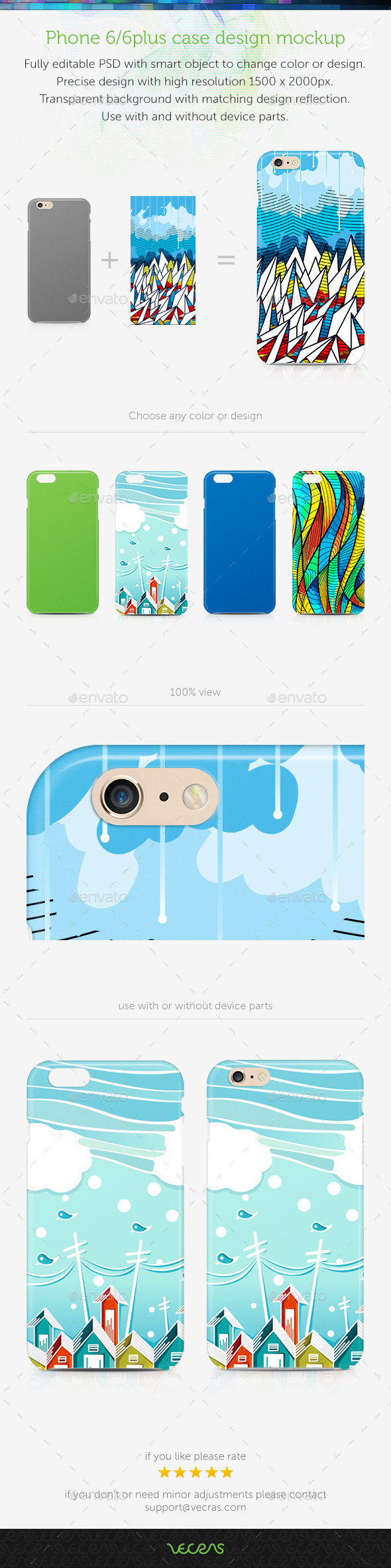 GraphicRiver Phone 6 6Plus Case Design Mockup 8862837