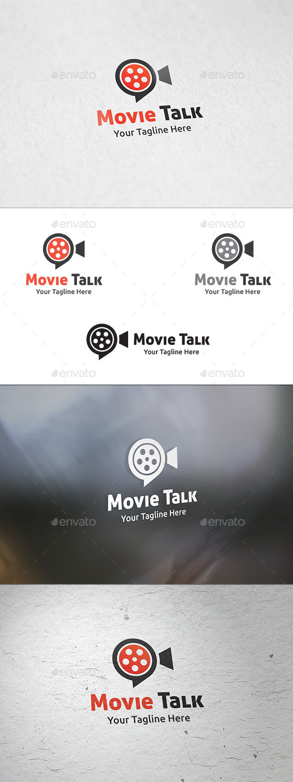 GraphicRiver Movie Talk Logo Template 8862886
